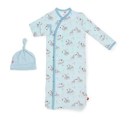 Blue Little One Gown & Hat Set