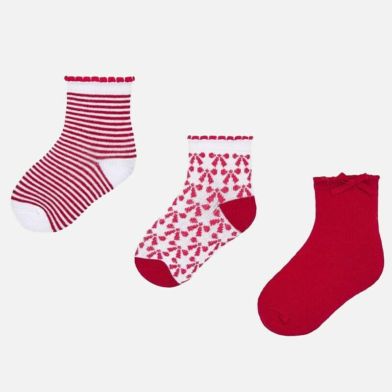 Set of Red Socks 24m