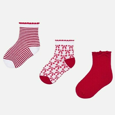 Set of Red Socks 6m