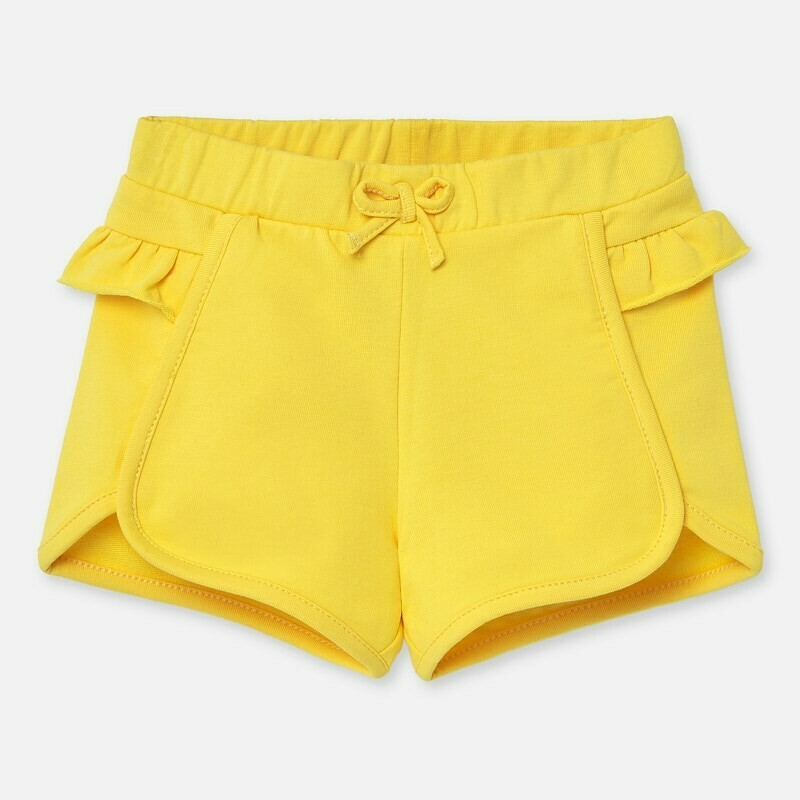 Yellow Ruffle Shorts 1204 18