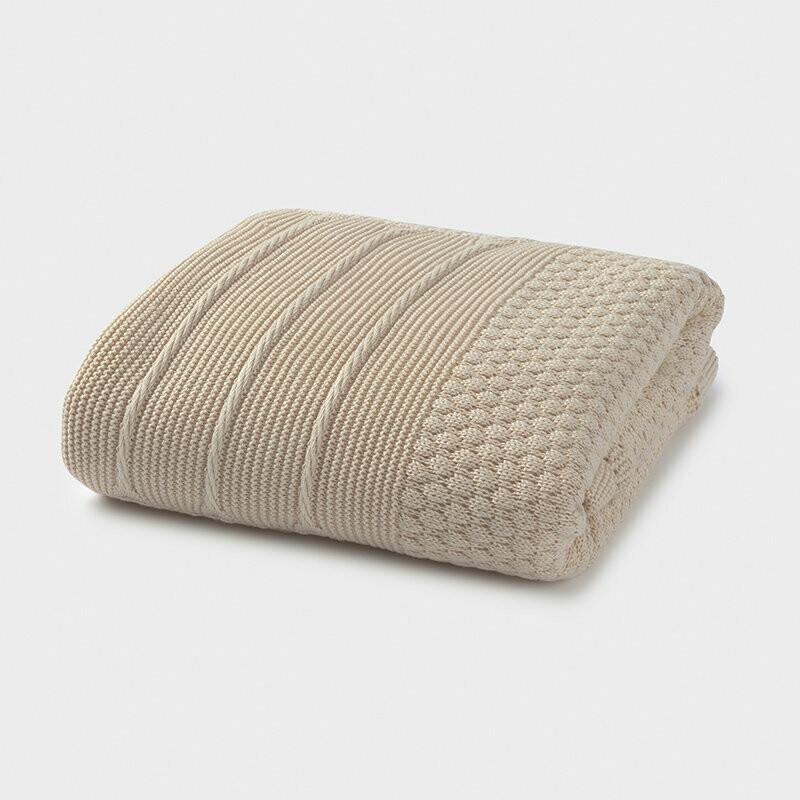 Tan Knit Blanket 9755
