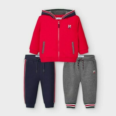 Red  3pc Tracksuit 918