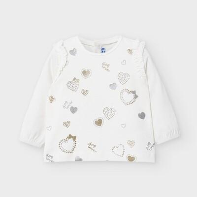 Hearts Ruffled T-Shirt 2056