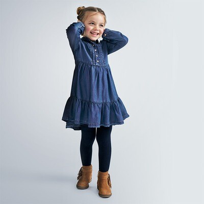 Denim Ruffle Dress 4980