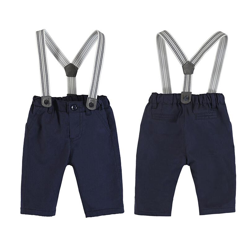 Navy Suspender Pants 2565