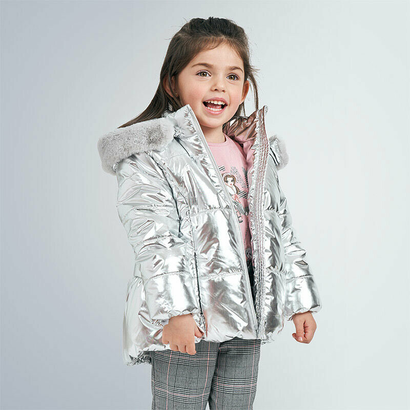 Metallic Padded Coat 4419