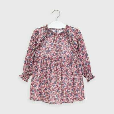 Printed Chiffon Dress 4971