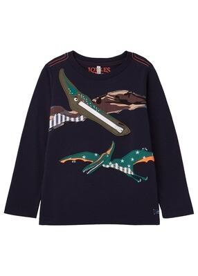 Zipadee Navy Dino T-Shirt