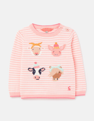 Holly Pink Faces Sweater