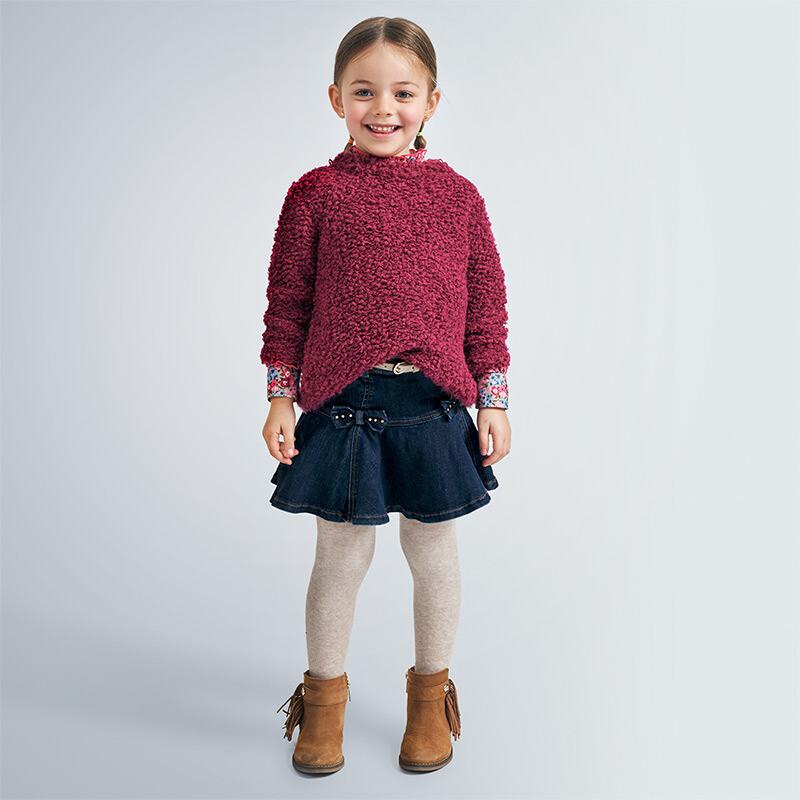 Denim Belted Skirt 4956