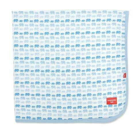 Blue Dancing Elephant Blanket