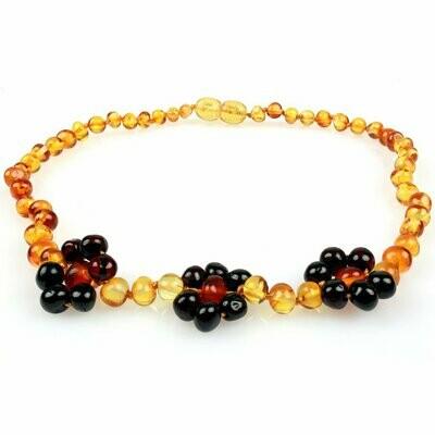 Honey/Cherry Flower Amber Necklace