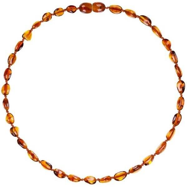 Cognac Beans Amber Necklace