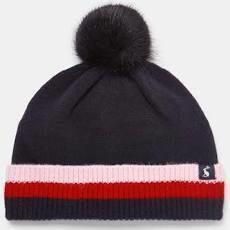 Bobble Ribbed Knit Hat