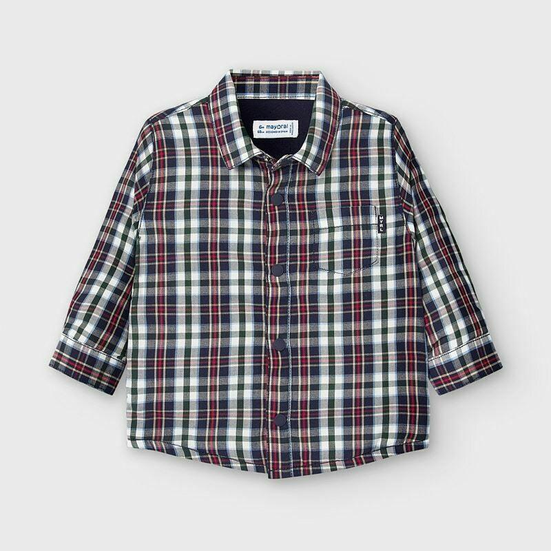 Lined Blue Plaid Shirt 2127