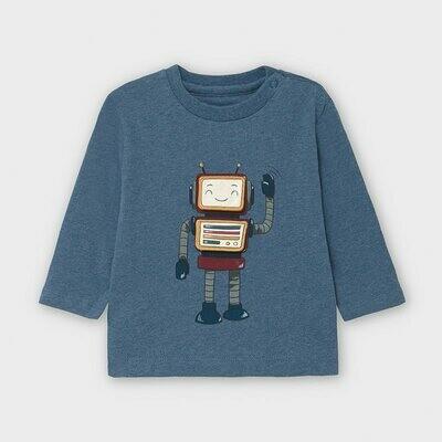 Blue Robot LS Shirt 2040