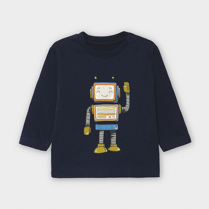 Navy LS Robot Shirt 2040
