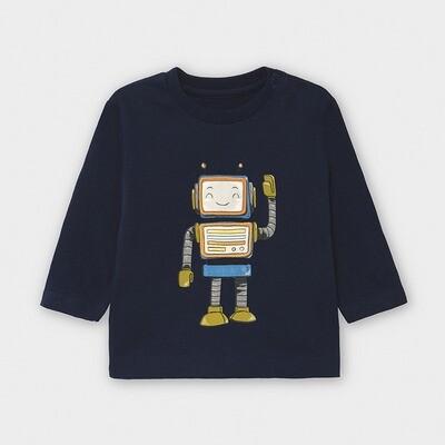 Navy LS Robot Shirt 2040
