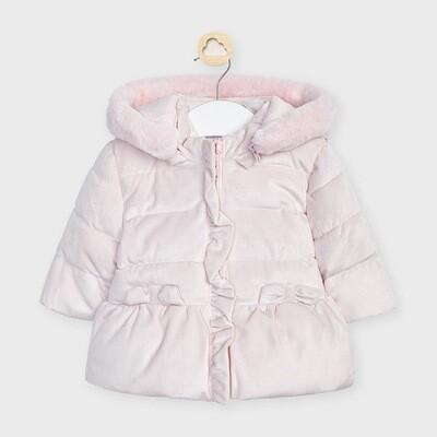 Velvet Hooded Coat 2467