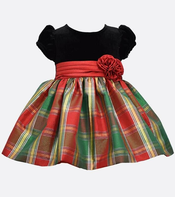 Velvet & Plaid Holiday Dress