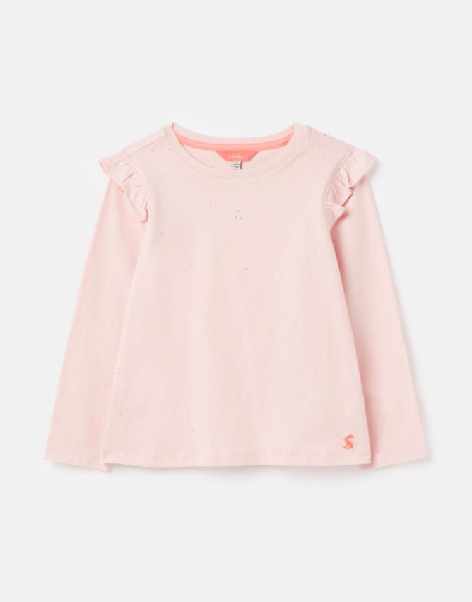 Pink Foil Ruffled Shirt