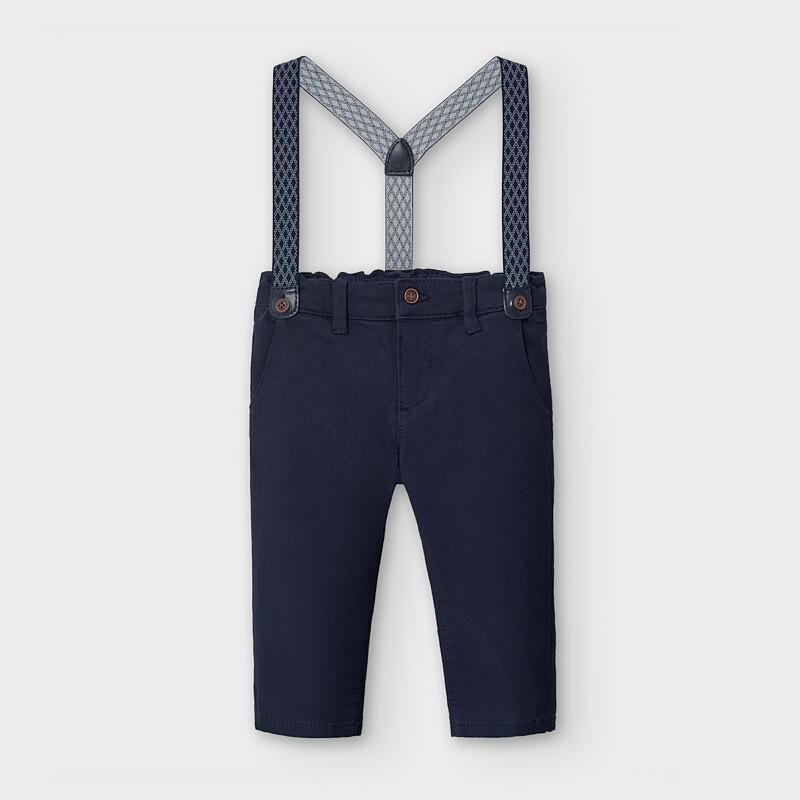 Navy Suspender Pants 2575
