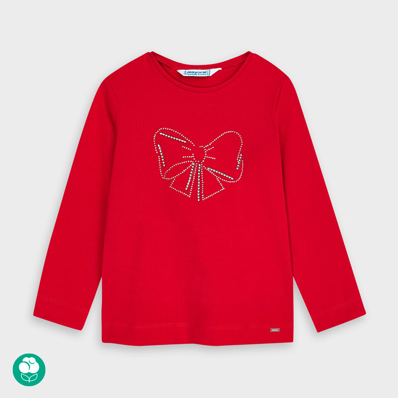 Red LS Bow Shirt 178