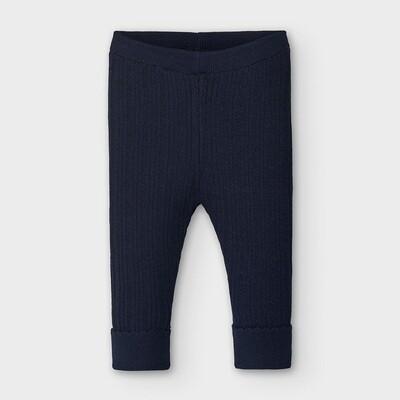 Navy Knit Leggings 10837