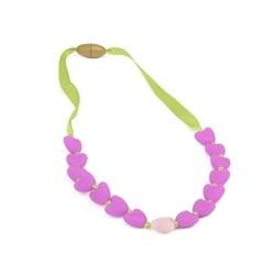 Spring Heart Necklace - Fuchsia