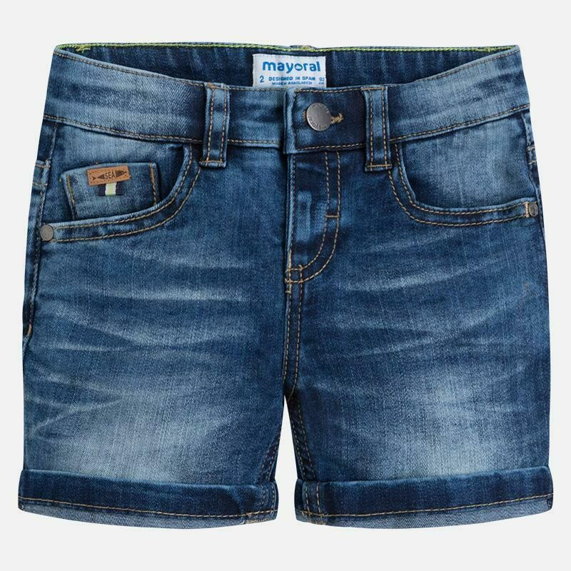 Dark Denim Shorts 3260B-6