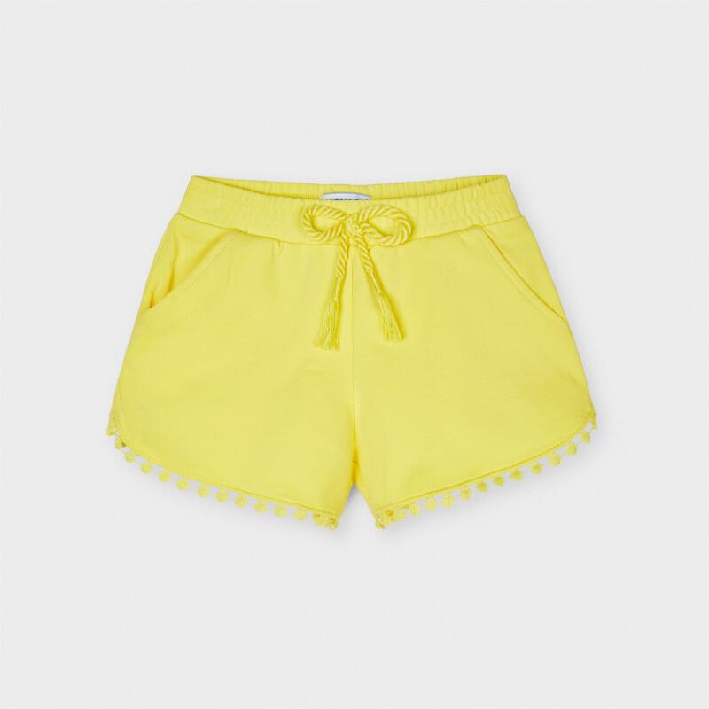 Sunshine Yellow Knit Shorts 607