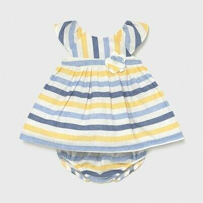 Linen Striped Dress Set 1825