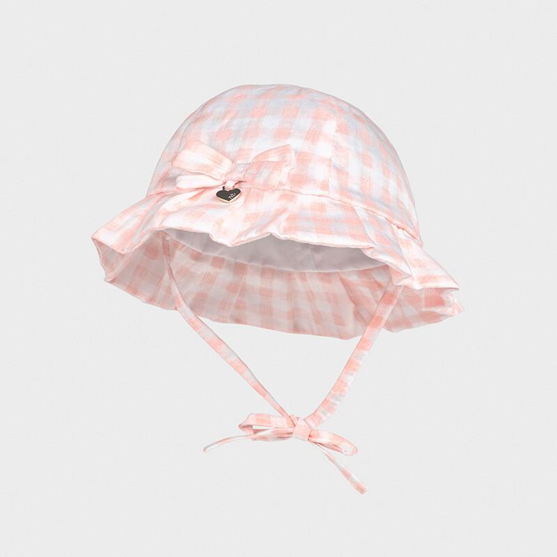 Pink Check Sunhat 9373