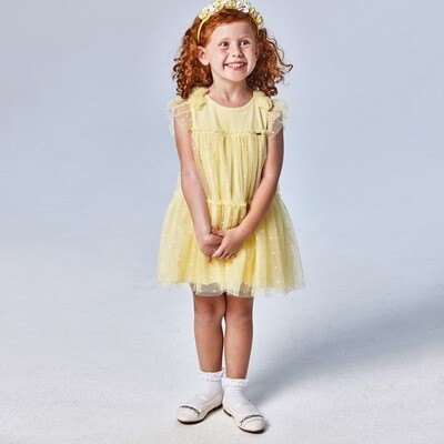 Yellow Tulle Dress 3913