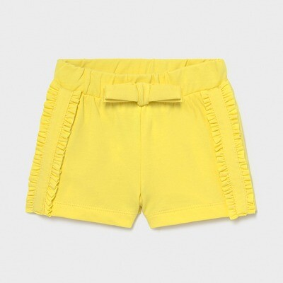 Yellow Knit Shorts 1227