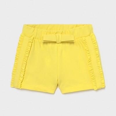 Yellow Knit Shorts 1227
