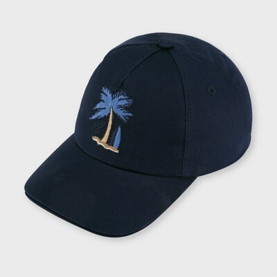 Navy Palm Tree Cap 10064