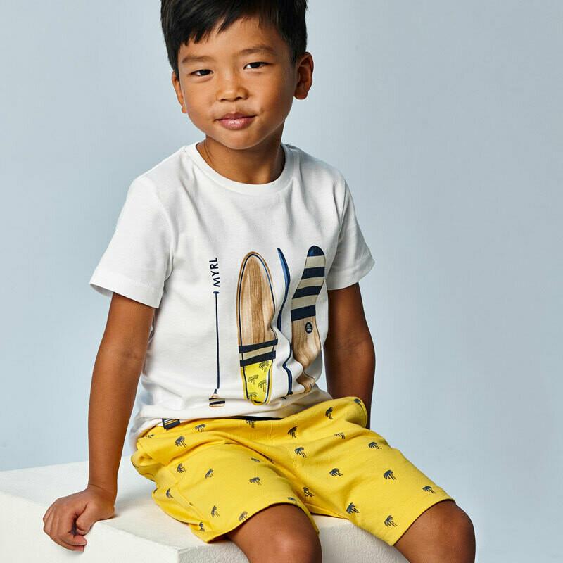 Yellow Paddleboard Short Set 3638