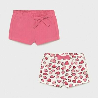 Pink Hearts Shorts Set 1206