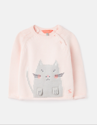 Beau Pink Cat Sweater