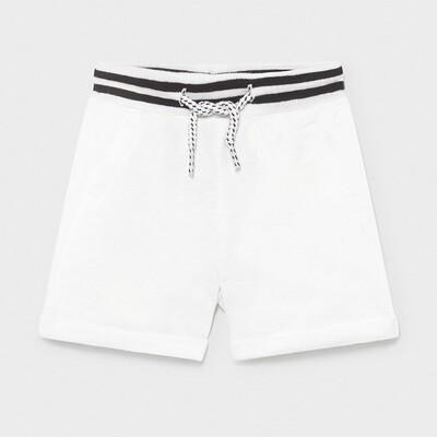 White Fleece Shorts 1212