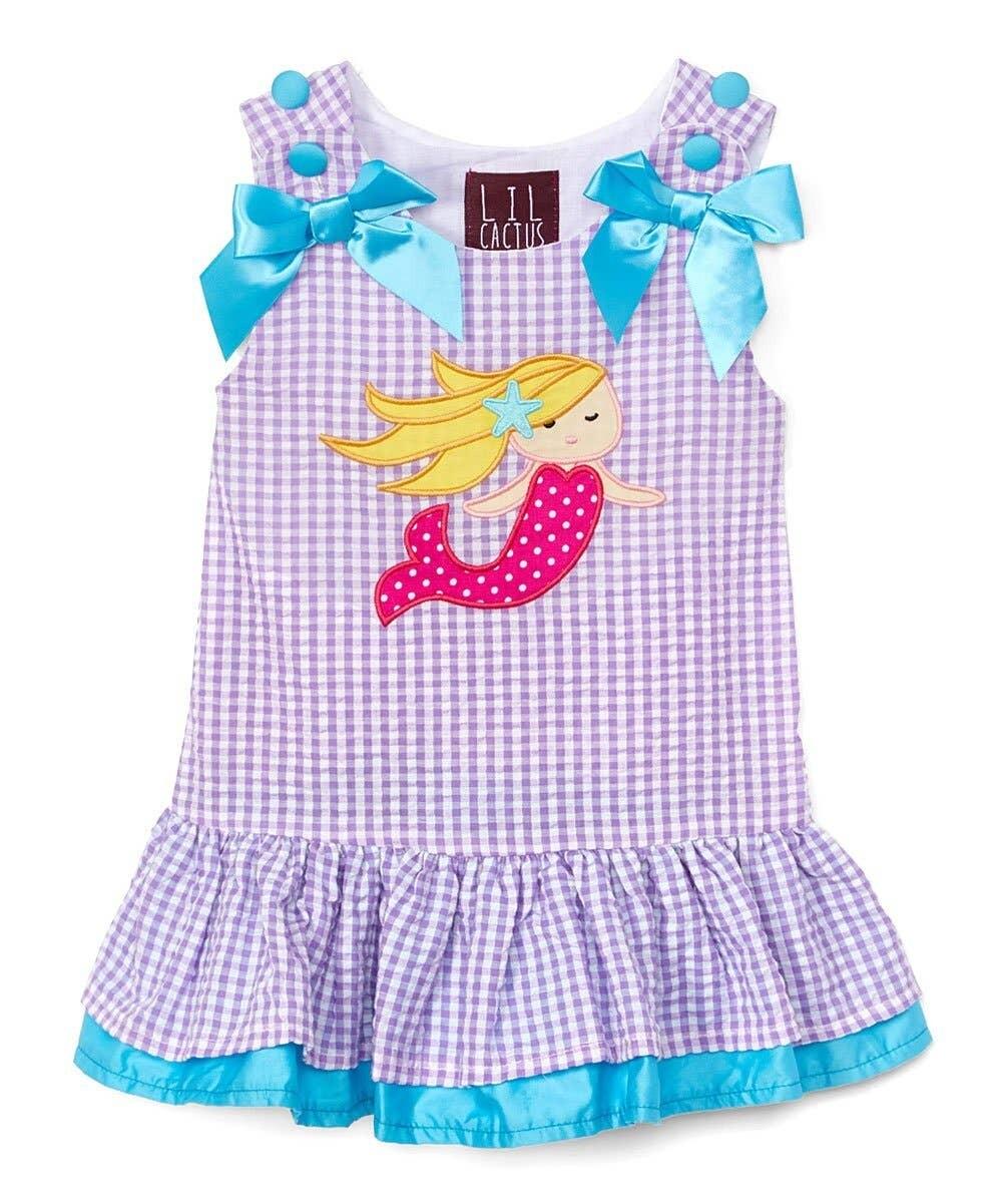 Girl Gingham Mermaid Dress