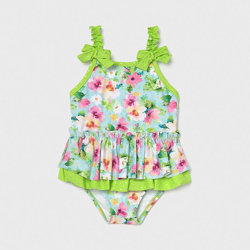 Green Ruffled Swimsuit 1719