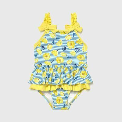 Yellow Ruffled Swimsuit 1719