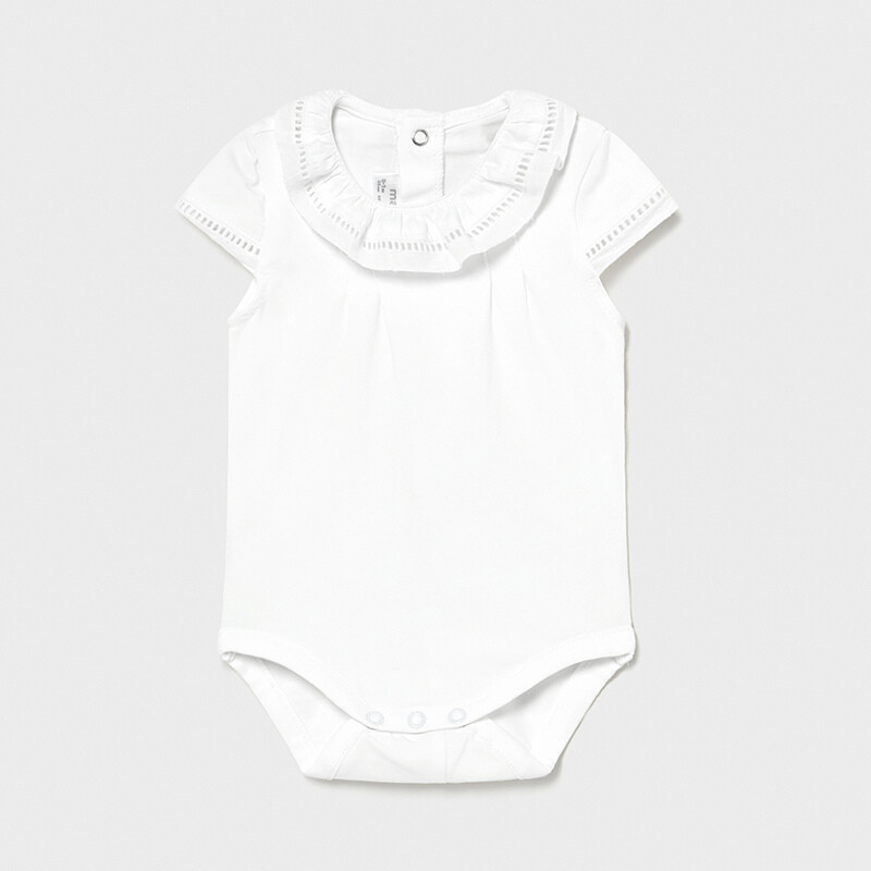 White Collared Onesie 1792