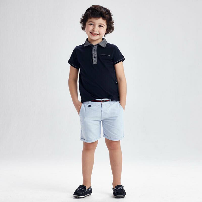 Blue Oxford Shorts 3235