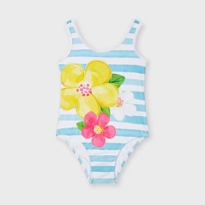Flower Stripe Swimsuit 3746
