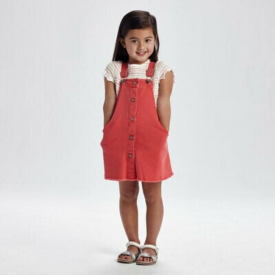 Coral Overall Dress 3910