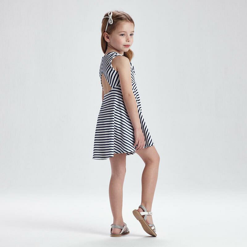 Navy Stripe Dress 3938