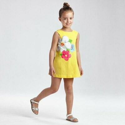 Yellow Flower Dress 3956